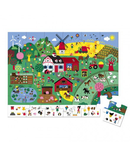 24 PCS OBSERVATION PUZZLE THE FARM