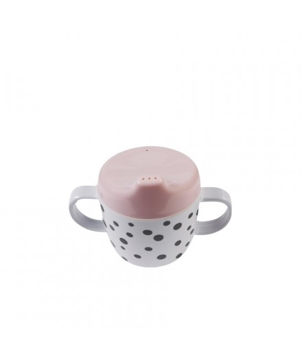 Spout cup Happy Dots Pink