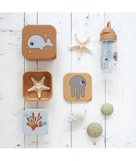Snack box set 3 pcs, SEA FRIENDS MUSTARD