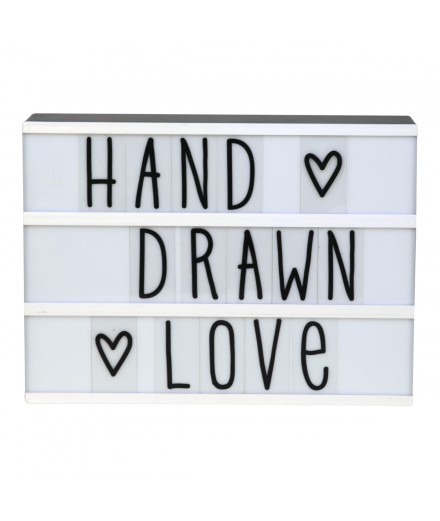Letras para Lightbox Hand Drawn