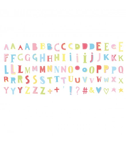 Lightbox letter set Funky Colour