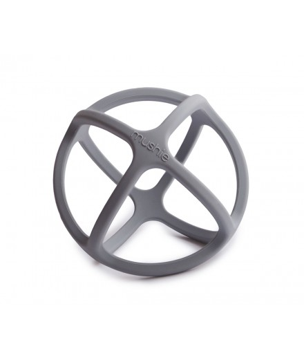 BALL TEETHER - DOVE GRAY