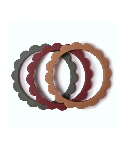 BRACELET TEETHER - 3 PACK (DRIED THYME/BERRY/NATURAL)