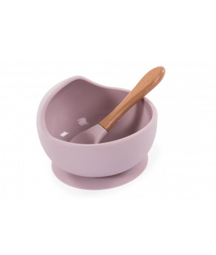 SILICONE BOWL AND SPOON - POWDER