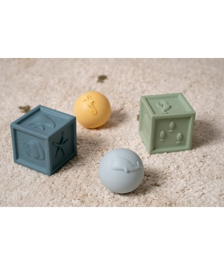 CUBES AND BALLS SET - OCEAN