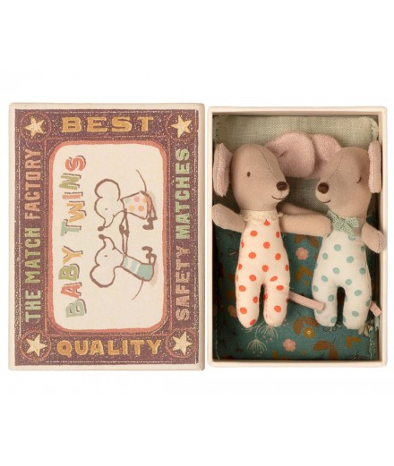 TWINS BABY MICE IN MATCHBOX
