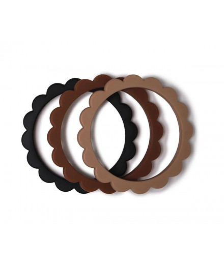 BRACELET TEETHER - 3 PACK (BLACK/CARAMEL/NATURAL)