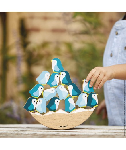 WOODEN PENGUINS SEE-SAW GAME