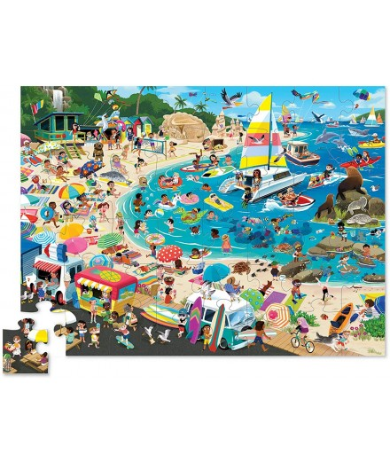 PUZZLE 48 PCS - THE DAY AT THE BEACH