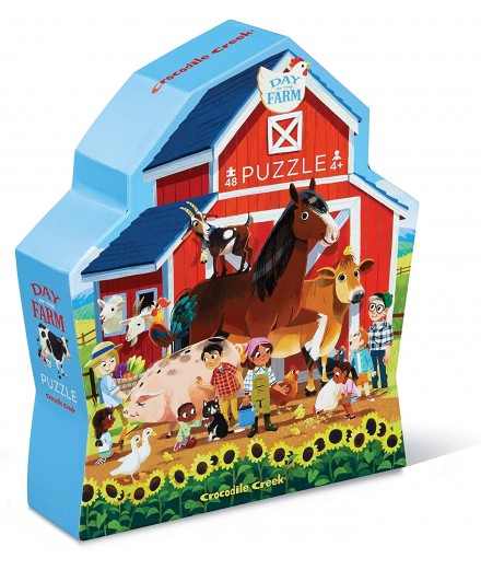 PUZZLE 48 PCS - THE DAY AT THE FARM