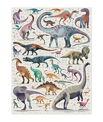 PUZZLE 750 PCS - WORLD OF DINOSAURS