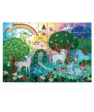 PUZZLE HOLOGRAPHIC FOIL 60 PCS - UNICORNS