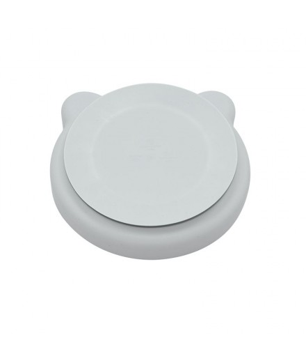 SILICONE PLATE - GREY