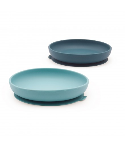 SILICONE SUCTION PLATES - BLUE ABYSS/LAGOON
