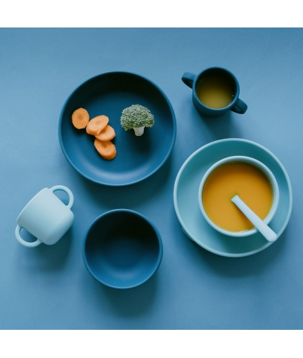 SILICONE SUCTION BOWLS - BLUE ABYSS/LAGOON