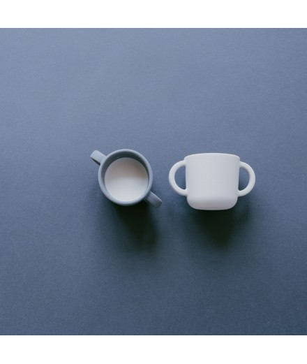SILICONE CUPS WITH HANDLES - CLOUD/STORM