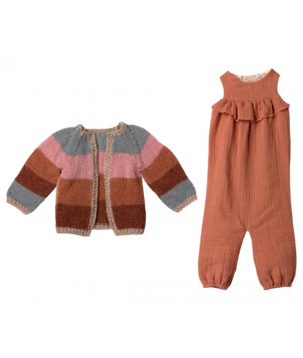 BUNNY SIZE 5 SUIT AND KNITTED CARDIGAN
