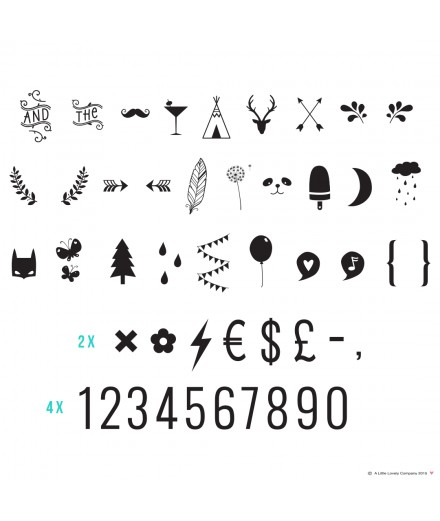 Lightbox letter set: Numbers & Symbols