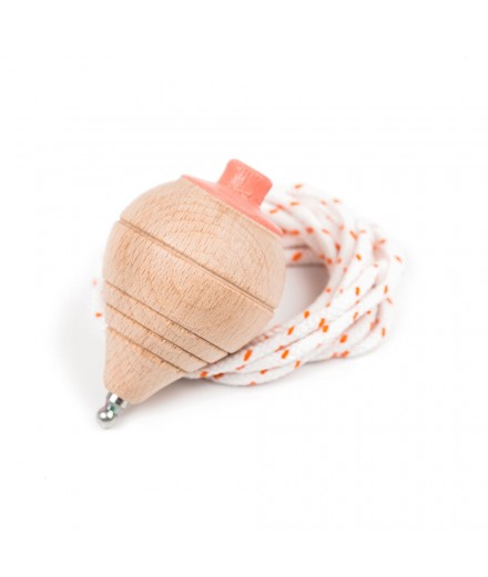 BEECH WOOD TOP WITH STRING - CORAL