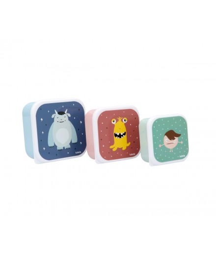 LUNCHBOXES MONSTERS - 3 PACK
