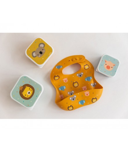 LUNCHBOXES ANIMAL FRIENDS - 3 PACK