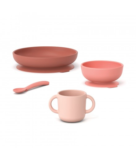 SILICONE MEAL SET - CORAL