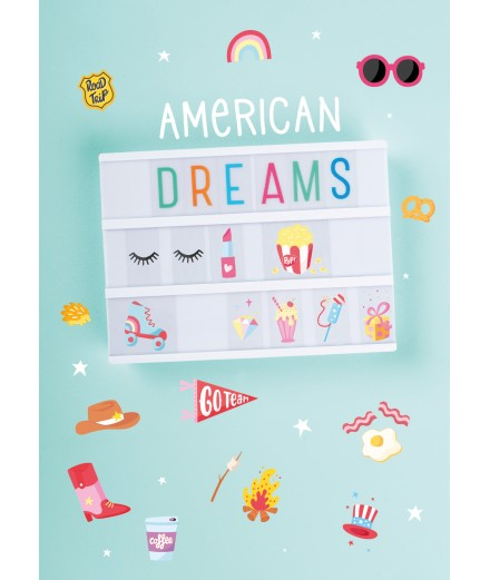 Lightbox letter set American Dreams