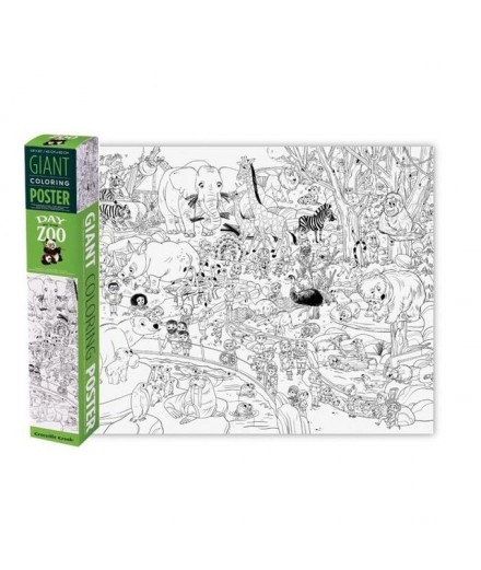 GIANT COLORING POSTER - ZOO