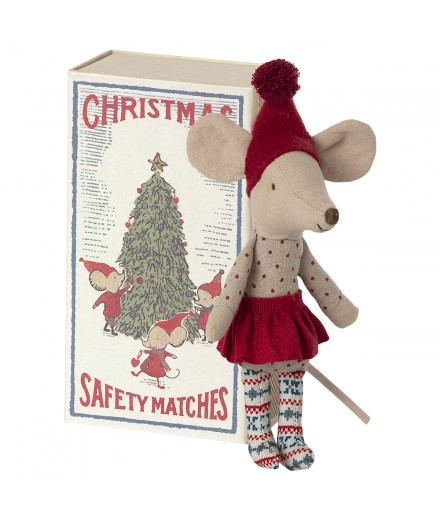 CHRISTMAS MOUSE IN MATCHBOX BIG SISTER