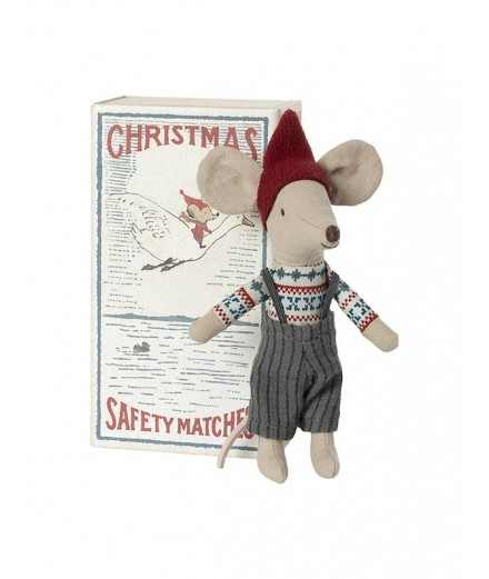 CHRISTMAS MOUSE IN MATCHBOX BIG BROTHER