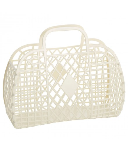 Retro Basket Large Cream