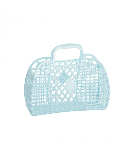 Retro Basket Small Blue