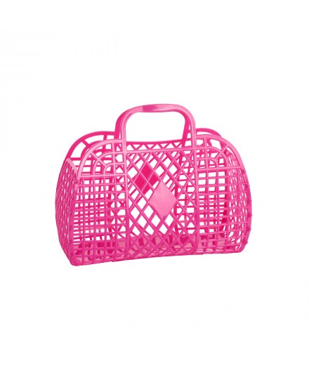 Retro Basket Small Hot Pink