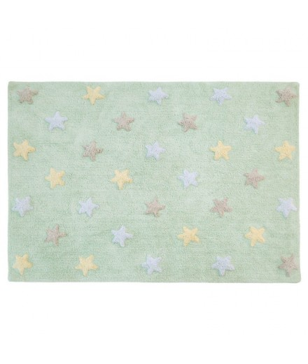 Washable rug Stars Tricolor - Mint