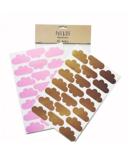 Golden/Pink Clouds Stickers