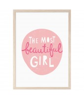 Poster THE MOST BEAUTIFUL GIRL (A3)