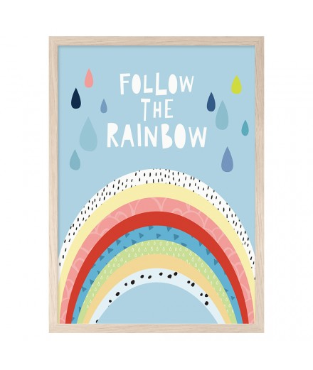 Print FOLLOW THE RAINBOW