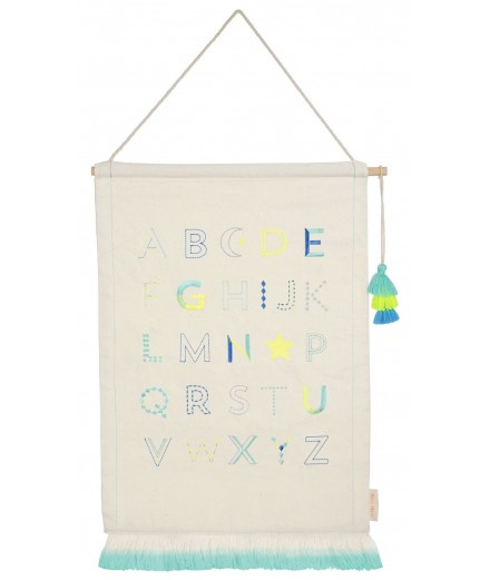 Wall Hanging - Alphabet Blue