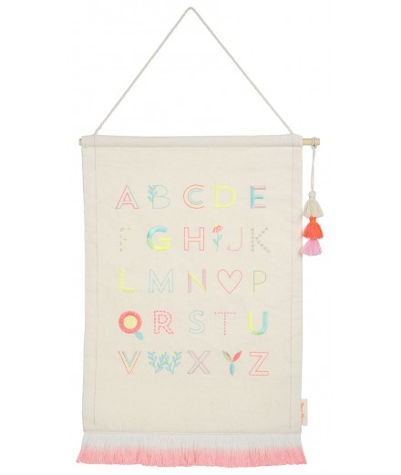 Wall Hanging - Alphabet Pink