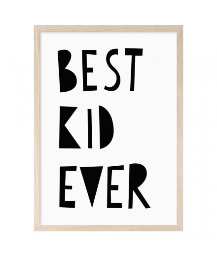 Print BEST KID EVER