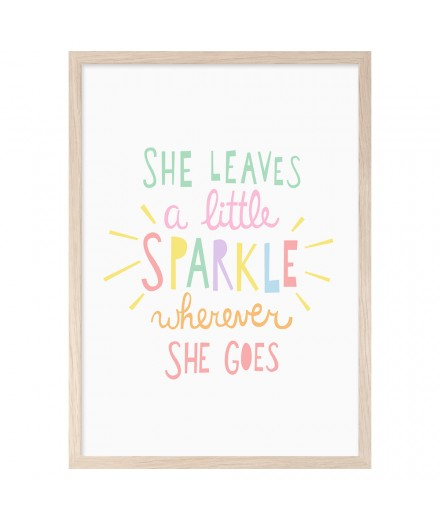 Print SHE LEAVES A LITTLE SPARKLE