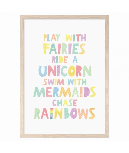 Poster PLAY WITH FAIRIES