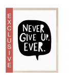 Poster NEVER GIVE UP (A3)
