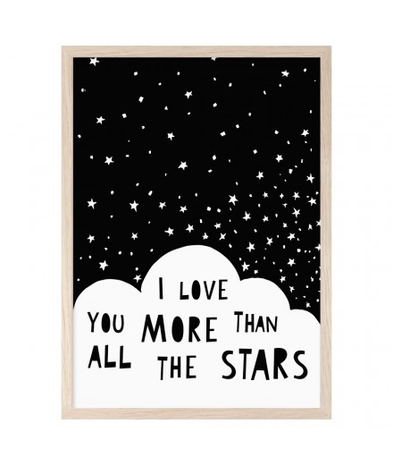 Poster I LOVE YOU MORE THAN (A4)