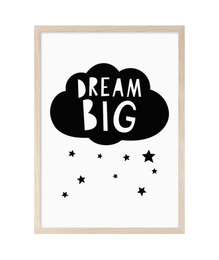 Print DREAM BIG CLOUDS (A3)