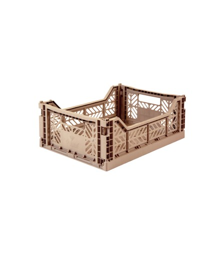 Folding Crate Mini - Warm Taupe