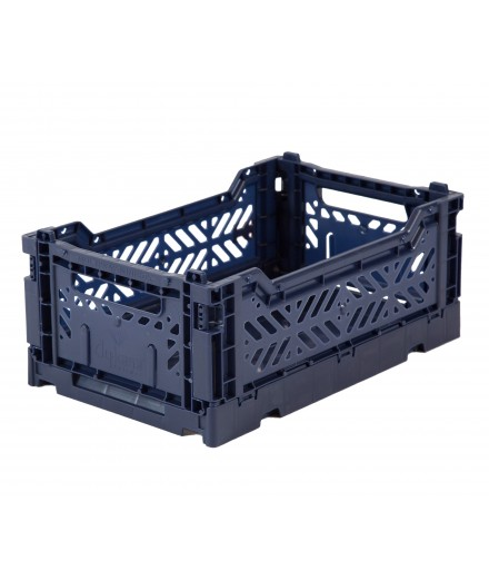 Folding Crate Mini - Navy