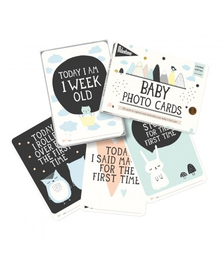 Milestone Baby Cards - Over the Moon [em português]