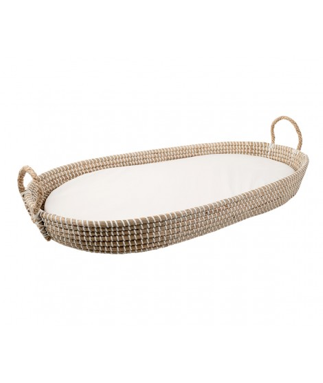 Natural Fiber Basket with Mattress
