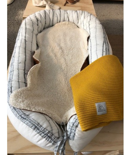 Baby Blanket Knit Yellow
